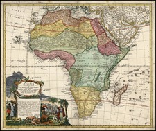Africa and Africa Map By Homann Heirs