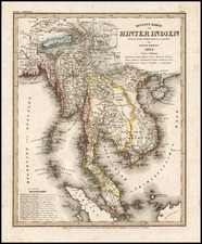 Asia and Southeast Asia Map By Joseph Meyer