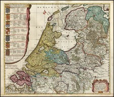Europe and Netherlands Map By Reiner & Joshua Ottens / Caspar Specht