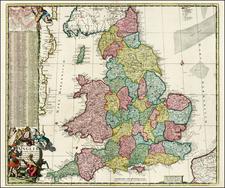 British Isles Map By Reiner & Joshua Ottens / Johannes De Ram