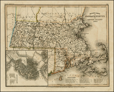 New England Map By Joseph Meyer