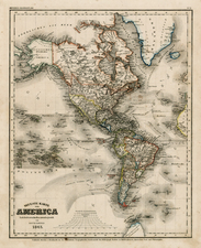 South America and America Map By Joseph Meyer