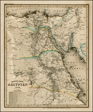 Asia, Middle East, Africa and North Africa Map By Joseph Meyer
