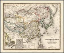 Asia, China and Japan Map By Joseph Meyer