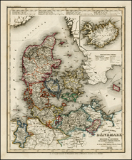 Europe, Scandinavia and Balearic Islands Map By Joseph Meyer