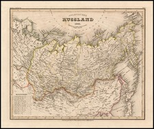 Asia, China, Central Asia & Caucasus and Russia in Asia Map By Joseph Meyer