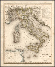 Europe and Italy Map By Joseph Meyer