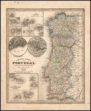 Europe and Portugal Map By Joseph Meyer