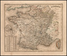 Europe and France Map By Joseph Meyer