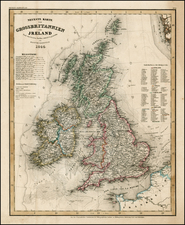 Europe and British Isles Map By Joseph Meyer