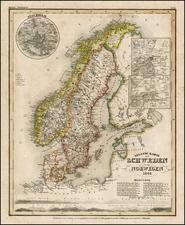 Europe and Scandinavia Map By Joseph Meyer