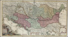 Europe, Hungary, Romania and Balkans Map By Reiner & Joshua Ottens