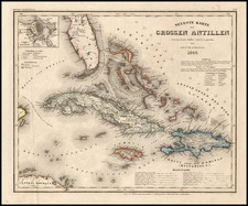Caribbean Map By Joseph Meyer