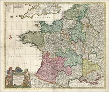 Europe and France Map By Reiner & Joshua Ottens / Frederick De Wit