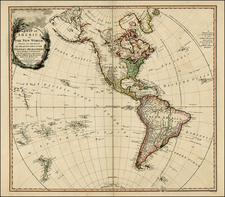 World, Western Hemisphere, South America and America Map By William Faden