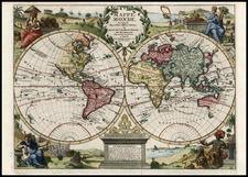 World and World Map By Pieter van der Aa