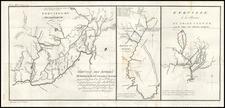 Midwest Map By Pierre Antoine Tardieu / Michel Guillaume St. Jean De Crevecoeur