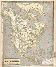 Texas and North America Map By Samuel Morse