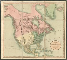 North America Map By John Cary