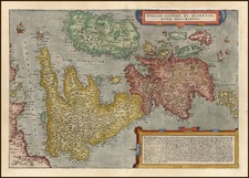 Europe and British Isles Map By Cornelis de Jode