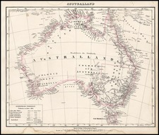 Australia & Oceania and Australia Map By Carl Flemming