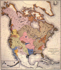 North America Map By J.W. Powell