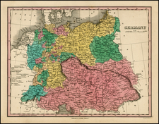 Germany, Austria, Poland and Hungary Map By Anthony Finley