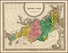 Asia, Central Asia & Caucasus and Russia in Asia Map By Anthony Finley