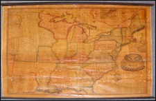 United States, South America and America Map By Robinson