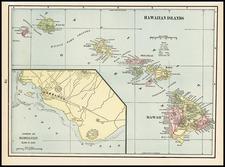 Hawaii, Australia & Oceania, Oceania and Hawaii Map By George F. Cram