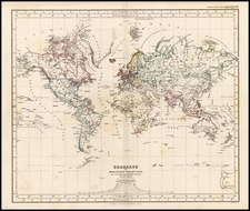 World and World Map By Adolf Stieler