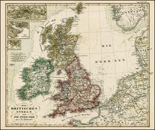 British Isles Map By Adolf Stieler