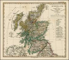Scotland Map By Adolf Stieler