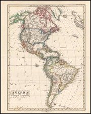 South America and America Map By F. Von Stulpnagel  &  Adolf Stieler