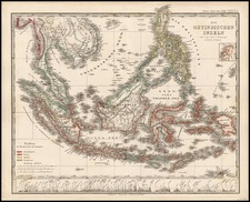 Asia, Southeast Asia and Philippines Map By Adolf Stieler