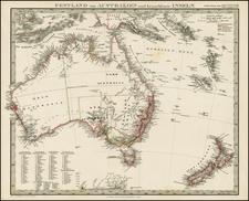 Australia & Oceania and Australia Map By Adolf Stieler