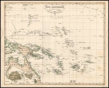 World, Australia & Oceania, Pacific, Oceania and Other Pacific Islands Map By Adolf Stieler