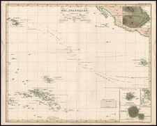 World, Australia & Oceania, Pacific, Oceania, Hawaii and Other Pacific Islands Map By Adolf Stieler