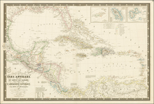 Southeast, Texas, Caribbean and Central America Map By Adrien-Hubert Brué / Alexandre Vuillemin