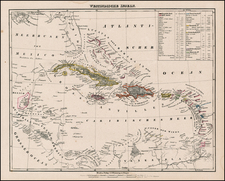 Caribbean Map By Carl Flemming