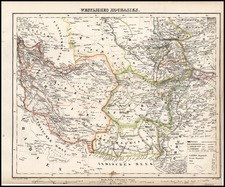Asia, Central Asia & Caucasus, Middle East and Russia in Asia Map By Carl Flemming