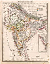 Asia and India Map By Carl Flemming