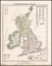 Europe and British Isles Map By Carl Flemming