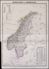 Scandinavia Map By Carl Flemming