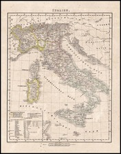 Europe and Italy Map By Carl Flemming