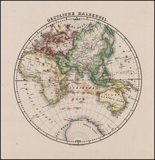 World and Eastern Hemisphere Map By Carl Flemming