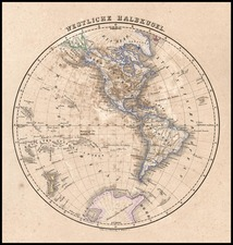 World and Western Hemisphere Map By Carl Flemming