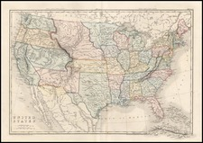 United States Map By Edward Weller