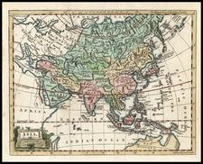 Asia, Asia, Australia & Oceania and Oceania Map By Thomas Jefferys