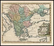 Europe, Hungary, Balkans, Greece and Turkey Map By Thomas Jefferys